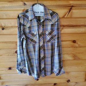 Vintage Miller Miller Miller Plaid Western Shirt